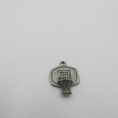 Basketball Hoop Pewter Charm 1241