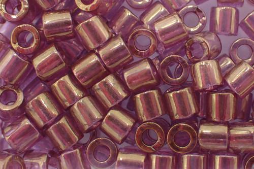 8/0 Gold Luster Amethyst Delica dbl-0108-tb