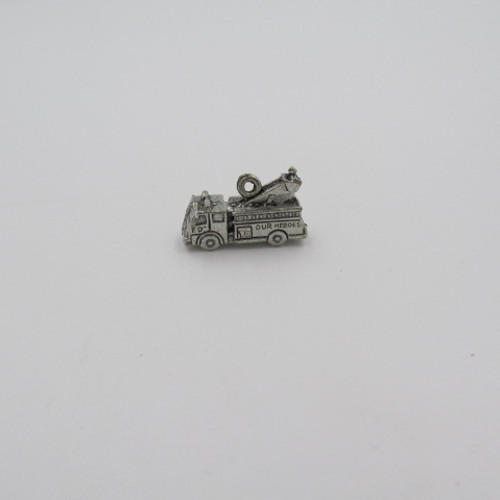 Fire Engine Pewter Charm 3118