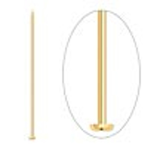 "2"" Thick Gold Plated Headpins (20 Pack)"