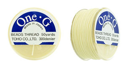 Cream One G Thread 50yd spool