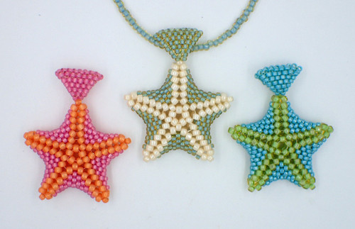 Cream & Seafoam Star Fish Pendant Kit