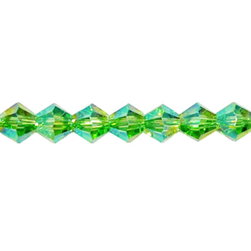 6mm Peridot AB Thunder Polish Bicone 8731