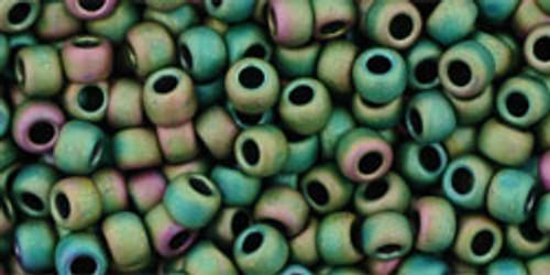 8/0 Toho Matte Iris Peridot Seed Bead 3192