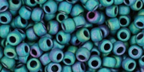 8/0 Toho Matte Iris Teal Seed Beads 2938