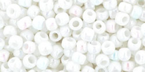 8/0 Toho Opaque RBW White Seed Beads
