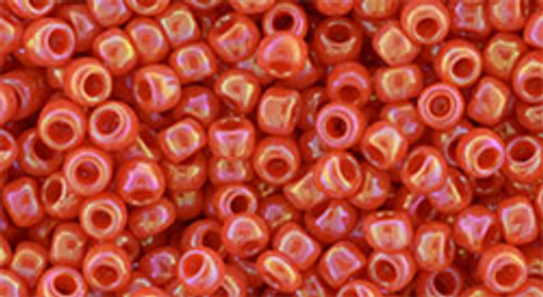 8/0 Toho Opaque RBW Pumpkin Seed Beads