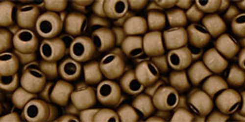 8/0 Toho Frosted Bronze Seed Beads 8771