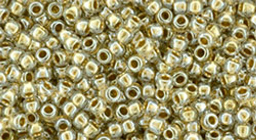 15/0 Gold Lined Crystal Seed Beads