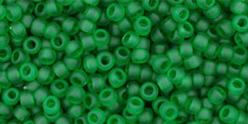 11/0 Frosted Grass Green Seed Beads
