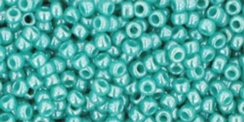 11/0 Opaque Lustered Turquoise TOHO Seed Beads