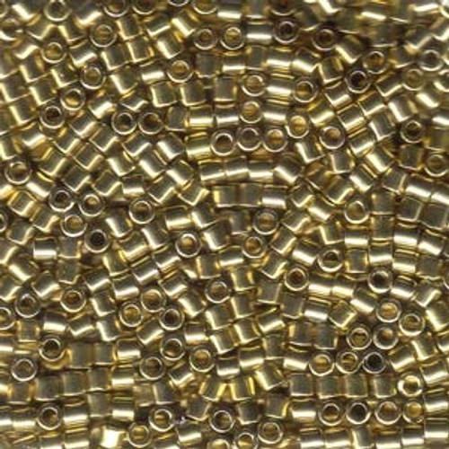 8/0 Light Gold 24K Delica Beads dbl-0034