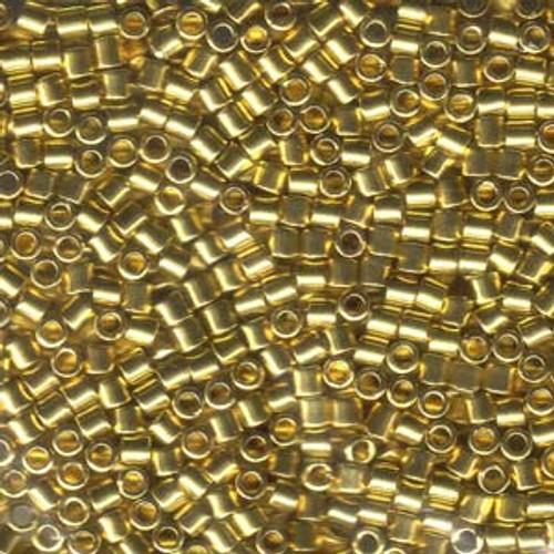 8/0 Bright Gold 24k Delica Beads dbl-0031