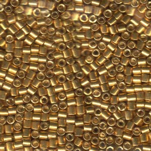 8/0 Galvanized Yellow Gold Delica Beads dbl-0410