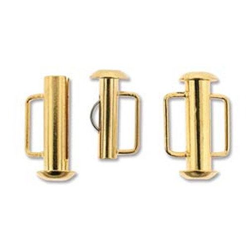 16.5mm Gold Plated Slide Bar Clasp 162