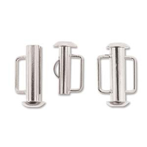 16.5mm Silver Plated Slide Bar Clasp 163