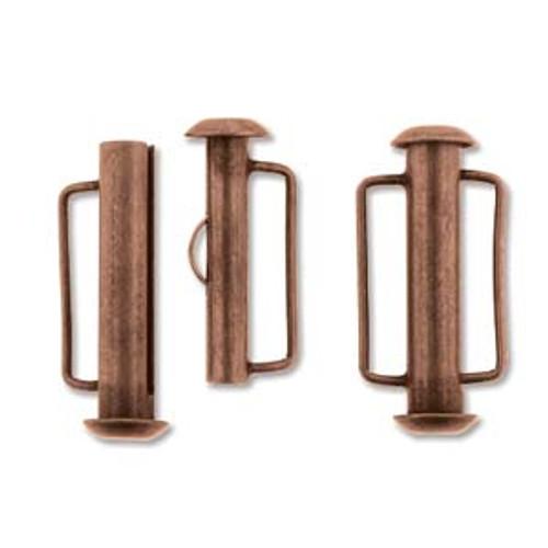 21.5mm Antique Copper Slide Bar Clasp 168
