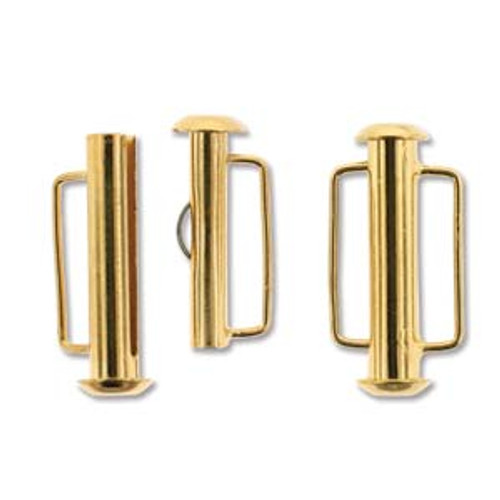 21.5mm Gold Plated Slide Bar Clasp 176