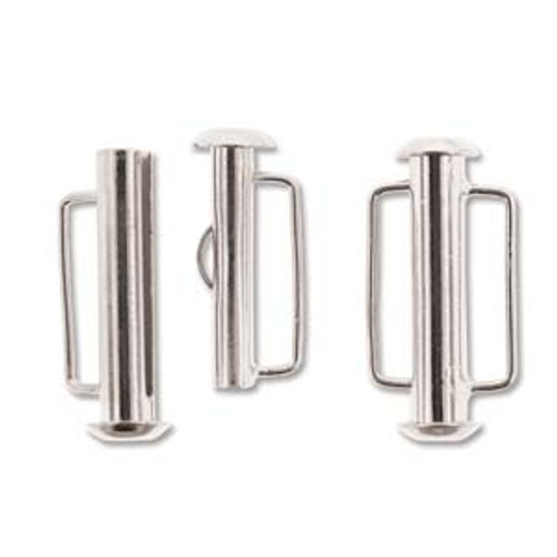 21.5mm Silver Plated Slide Bar Clasp 188