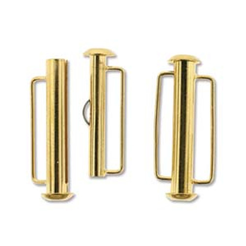 26.5mm Gold Plated Slide Bar Clasp  1174