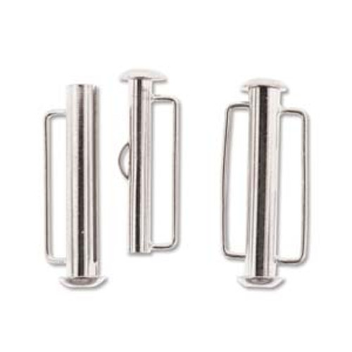 26.5mm Silver Plated Slide Bar Clasp 1175