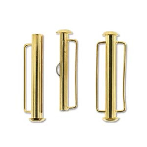 31.5mm Gold Plated Slide Bar Clasp 2942