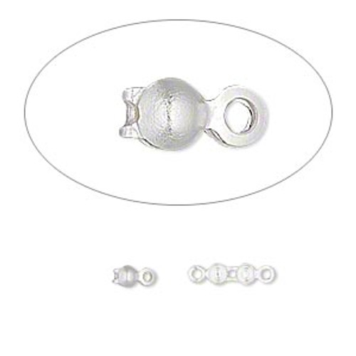Double Loop Silver Plated Bead Tip (24 Ct.)