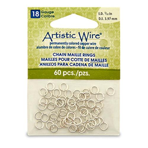 5/32 18ga Artistic Wire Jump Rings 60pk