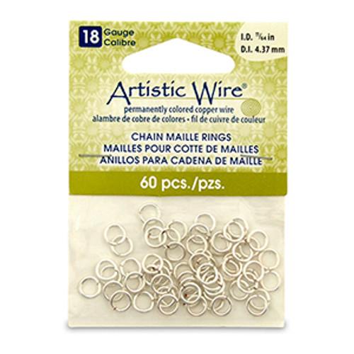 11/64 18ga Artistic Wire  Jump Rings 60pk