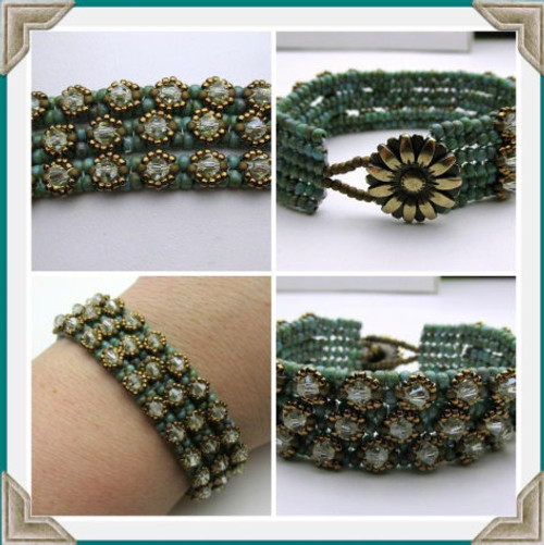 On the Rocks Trio Bracelet Tutorial