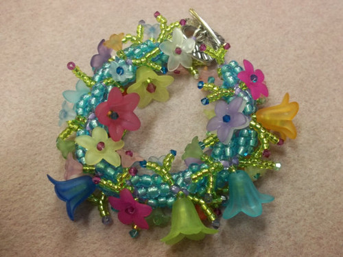 Flower Fringe Bracelet Tutorial