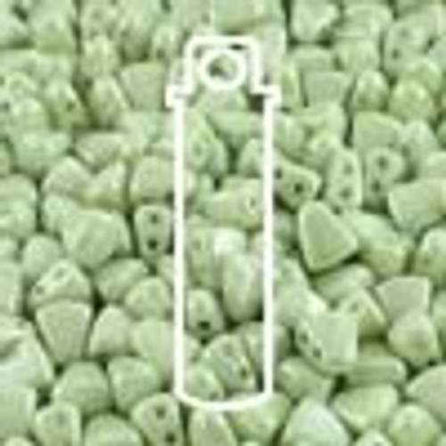 6x5mm Chalk Green Nib Bit Beads (23 Grams)
