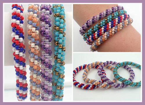 Tubular Peyote Stitch Bangle Bracelet Tutorial