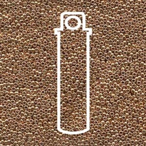 15/0 Miyuki Galvanized Gold Seed Beads