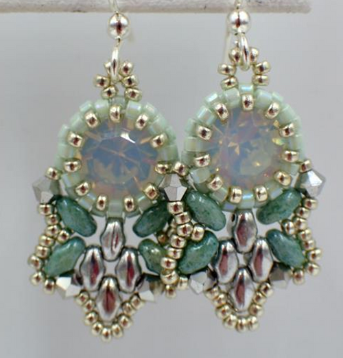 Mint Green Flutter Earrings Jewelry Making Kit