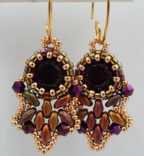 Purple Flutter Earrings Kit