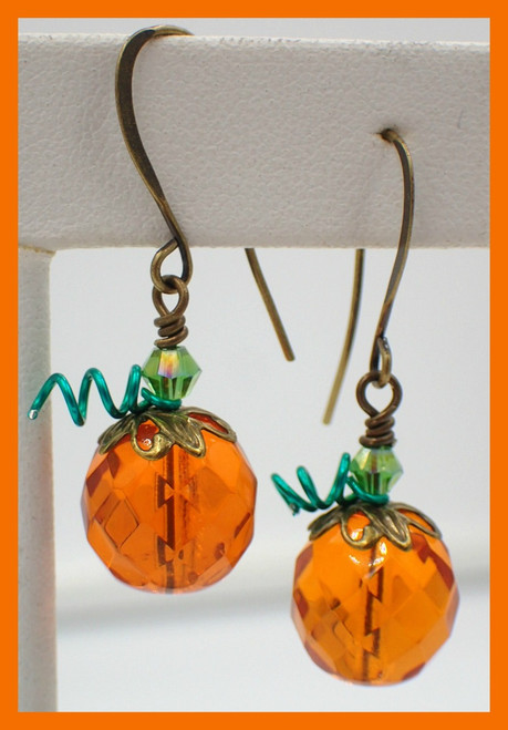 Transparent Pumpkin Earring Kit