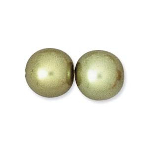 8mm Olivine Pearls (75 Beads)