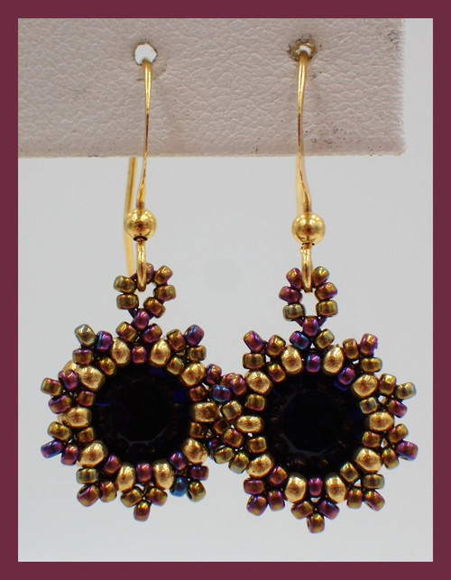 Purple Sunburst Earring Kit