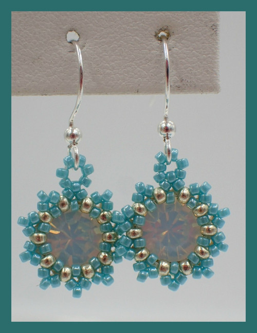 Turquoise Blue Sunburst Earrings Kit
