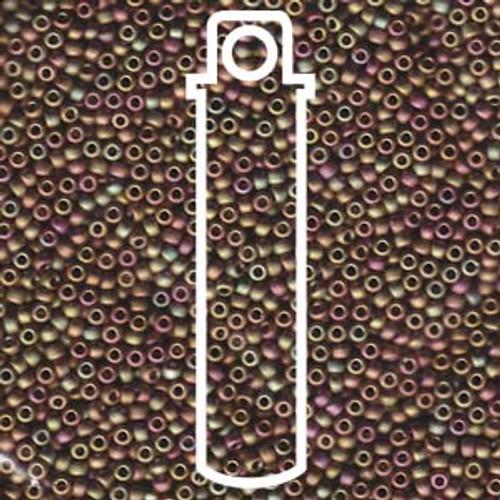 11/0 Matte Metallic Khaki Iris Miyuki Seed Beads