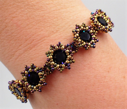 Purple & Gold Sunburst Bracelet Kit