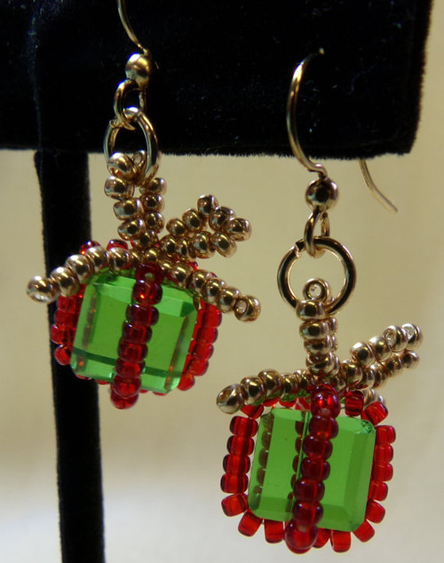 Christmas Package Earrings Tutorial