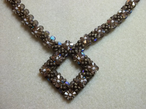 Diamond in the Rough Necklace Tutorial