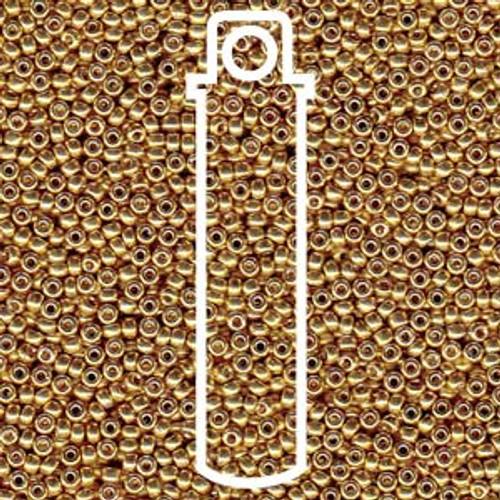 15/0 Duracoat Galvanized Gold Miyuki Seed Beads