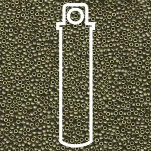 15/0 Matte Met Olive Gold Miyuki Seed Beads