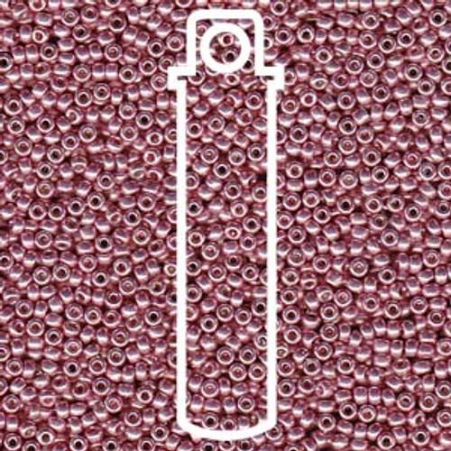 11/0 Duracoat Galvanized Dark Coral Miyuki Seed Beads