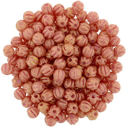 3mm Melon - Pacifica Strawberry (100 Beads)