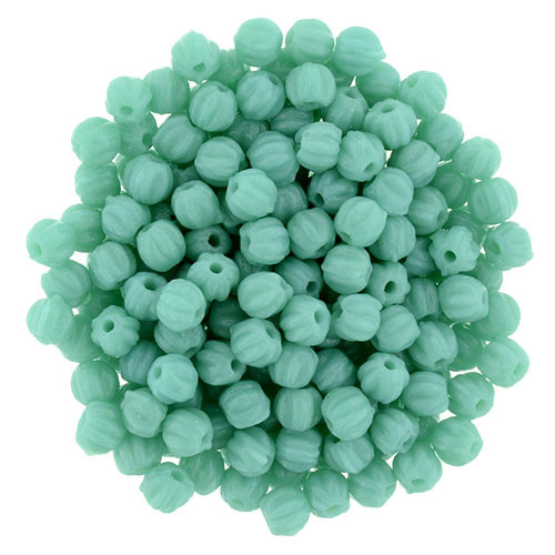 3mm Melon - Turquoise (1oo Beads)
