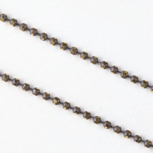 Grey & Gold 1.5mm Ball Chain sold per foot